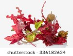 red christmas decoration... | Shutterstock . vector #336182624