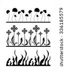 silhouette of the flower...   Shutterstock .eps vector #336185579