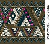 ethnic geometrical pattern ... | Shutterstock . vector #336194309
