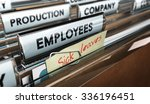 close up on a file tab with the ... | Shutterstock . vector #336196451