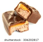 tasty broken chocolate bars... | Shutterstock . vector #336202817