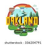 oakland destination brand logo. ... | Shutterstock .eps vector #336204791