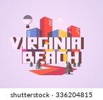 virginia beach destination... | Shutterstock .eps vector #336204815