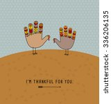 Thanksgiving Card Design With...