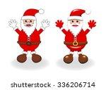 two vector styles of happy...   Shutterstock .eps vector #336206714