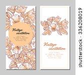 vintage delicate invitation... | Shutterstock . vector #336208019