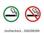 Smoking And No Smoking Vector...