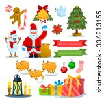 christmas set vector graphic... | Shutterstock .eps vector #336213155