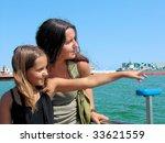 Mum And Daughter In Port Of...