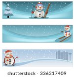 collection of three different... | Shutterstock .eps vector #336217409