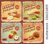 nuts vintage banner | Shutterstock .eps vector #336221855