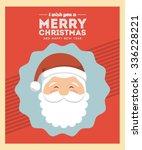 happy merry christmas design ... | Shutterstock .eps vector #336228221