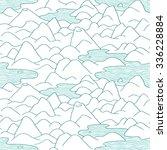 mountains pattern. vector... | Shutterstock .eps vector #336228884
