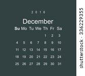 calendar december 2016 vector...   Shutterstock .eps vector #336229355