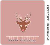 minimalistic flat design merry... | Shutterstock .eps vector #336232265