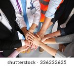 portrait of people with various ... | Shutterstock . vector #336232625