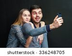 couple of young man and woman... | Shutterstock . vector #336248705