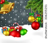 christmas ornament background   Shutterstock .eps vector #336255251