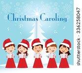 Children Christmas Caroling....