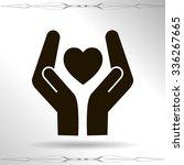 heart and hands | Shutterstock .eps vector #336267665