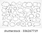 hand drawn thought and speech... | Shutterstock .eps vector #336267719