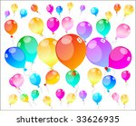 colour holiday balloons  ...   Shutterstock . vector #33626935
