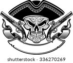Pirate Skull With Hat  Banner...
