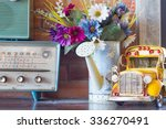 vintage room  retro interior... | Shutterstock . vector #336270491