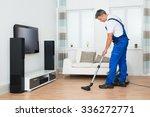 full length of male worker... | Shutterstock . vector #336272771