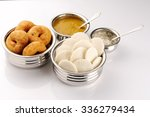 south indian food idly  wada... | Shutterstock . vector #336279434