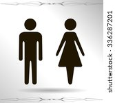 vector icon with man and woman... | Shutterstock .eps vector #336287201