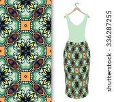 vector fashion illustration ... | Shutterstock .eps vector #336287255