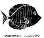 monochrome stylized fish. hand... | Shutterstock .eps vector #336289499