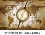 vintage travel manuscript with... | Shutterstock . vector #336313889