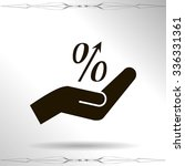 flat style icon  percent symbol ...   Shutterstock .eps vector #336331361