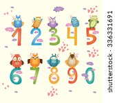 collection of animal numbers... | Shutterstock .eps vector #336331691
