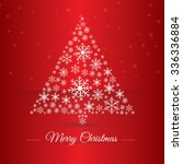 christmas tree made osnowflakes.... | Shutterstock .eps vector #336336884