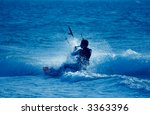 Kite Surfing  Silhouette Of...