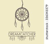 dreamcatcher vector design... | Shutterstock .eps vector #336343379