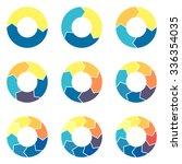 circular infographics. pie... | Shutterstock .eps vector #336354035