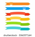 the colored arrows in the form... | Shutterstock .eps vector #336357164