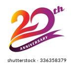 anniversary emblems 20... | Shutterstock .eps vector #336358379