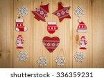 wooden christmas figurines... | Shutterstock . vector #336359231