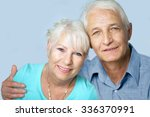 senior couple smiling for a... | Shutterstock . vector #336370991