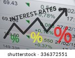 text interest rates on up trend ... | Shutterstock . vector #336372551
