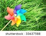 Pinwheel Lie On The Grass