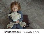 miserable girl. top view of...   Shutterstock . vector #336377771