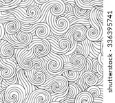 vector lineart hand drawn hair... | Shutterstock .eps vector #336395741