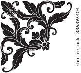 vintage baroque frame scroll... | Shutterstock .eps vector #336396404