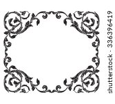 vintage baroque frame scroll... | Shutterstock .eps vector #336396419